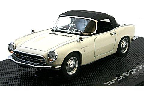 ホンダ S800 ホワイト (1/43 エブロ44267