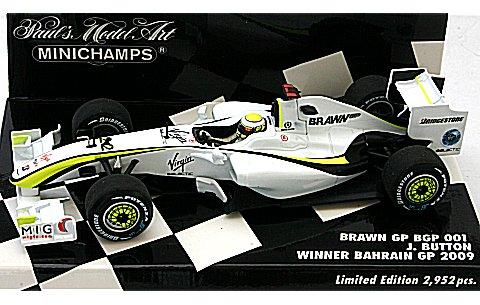 ブラウン GP メルセデス BGP 001 J・バトン 2009 バーレーンGP 3勝目 (1/43 ミニチャンプス400090322)