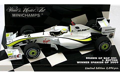 ブラウン GP メルセデス BGP 001 J・バトン 2009 スペインGP 4勝目 (1/43 ミニチャンプス400090422)