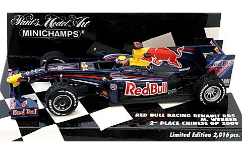 レッドブル レーシング RB5 M・ウェバー 中国GP 2009 2位 (レインタイヤ仕様) (1/43 ミニチャンプス400090114� title=