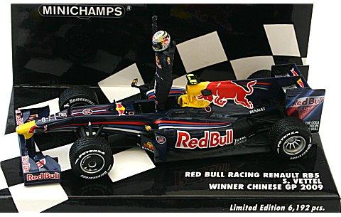 レッドブル レーシング RB5 S・ベッテル 中国GP 2009 ウイナー (レインタイヤ仕様) (1/43 ミニチャンプス400090115� title=