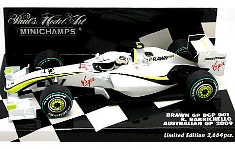 ブラウン GP メルセデス BGP 001 バリチェロ オーストラリアGP 2009 2位 (1/43 ミニチャンプス40090123� title=