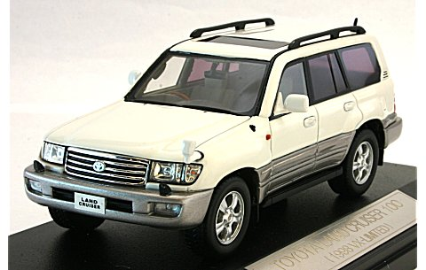 トヨタ ランドクルーザー 100 1998 ホワイト(1/43 ハイストーリーHS021WH)