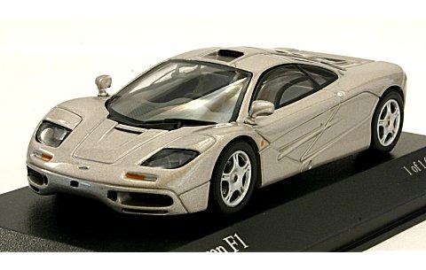 マクラーレン F1 GTR ロードカー シルバー (1/43 ミニチャンプス530133439)