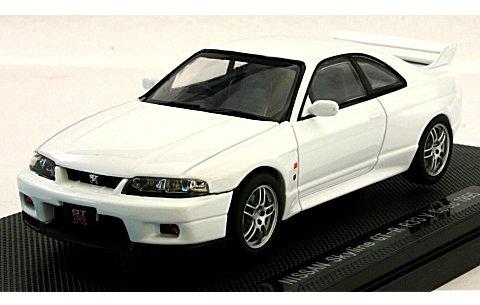 ニッサン スカイライン GT-R R33 Vスペック ホワイト (1/43 エブロ44186)
