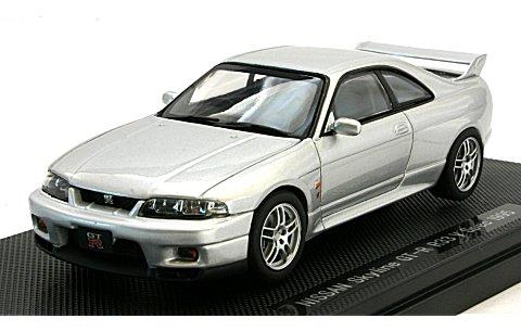 ニッサン スカイライン GT-R R33 Vスペック シルバー (1/43 エブロ43882)