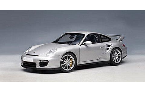 ポルシェ 911 (997) GT2 シルバー (1/18 オートアート77898)