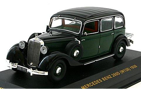 メルセデス・ベンツ 260D (W138) 1936 ブラック/グリーン (1/43 イクソMUS025)