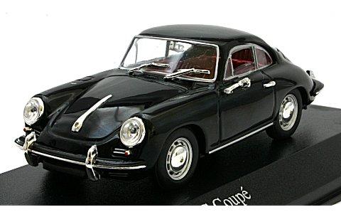 ポルシェ 356C クーペ 1963 ブラック (1/43 ミニチャンプス430062328)