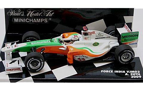 フォース インディア F1 メルセデス VJM02 A・スーティル 2009 (1/43 ミニチャンプス400090020)