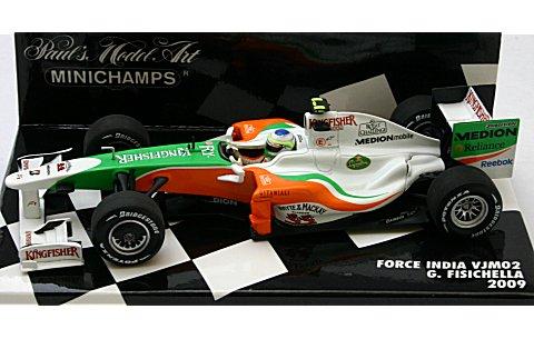 フォース インディア F1 メルセデス VJM02 G・フィジケラ 2009 (1/43 ミニチャンプス400090021)