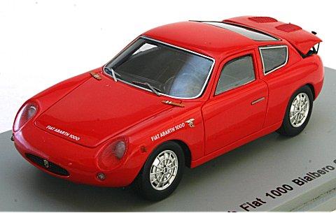 フィアット アバルト 1000 ビアルベーロ GT 1961 レッド (1/43 スパークモデルS1301)