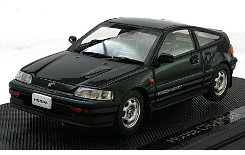 ホンダ CR-X 1987 ブラック (1/43 エブロ44227)