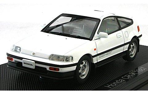 ホンダ CR-X 1987 ホワイト (1/43 エブロ44228)