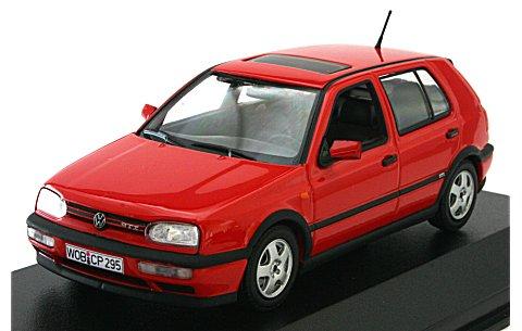 フォルクスワーゲン ゴルフ GTI 1993 レッド (1/43 ミニチャンプス400055561)