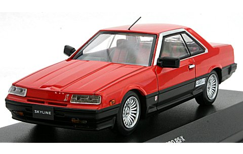 ニッサン スカイライン 2000 ターボ RS-X (R30) レッド/ブラック (1/43 京商K03601R� title=