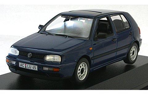 フォルクスワーゲン ゴルフ 1993 ダークブルーM (1/43 ミニチャンプス400055501)