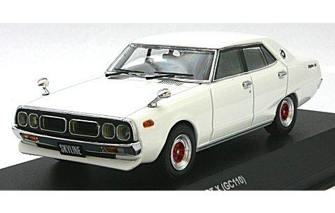 ニッサン スカイライン GT-X (GC110) スポーツホイール ホワイト (1/43 京商K03274W)