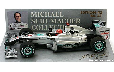 メルセデス GP M・シューマッハ ショーカー 2010 (1/43 ミニチャンプス400100073)