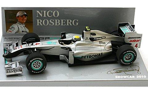メルセデス GP N・ロズベルグ ショーカー 2010 (1/43 ミニチャンプス400100074)