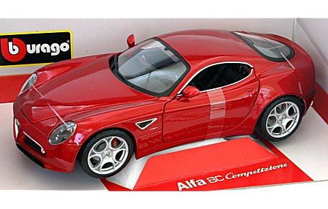 アルファロメオ 8C コンペツィオーネ 2007 レッド (1/18 ブラゴ18-11021R)