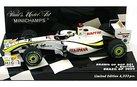 ブラウン GP メルセデス BGP 001 ブラジルGP 2009 J・バトン (1/43 ミニチャンプス400090622)