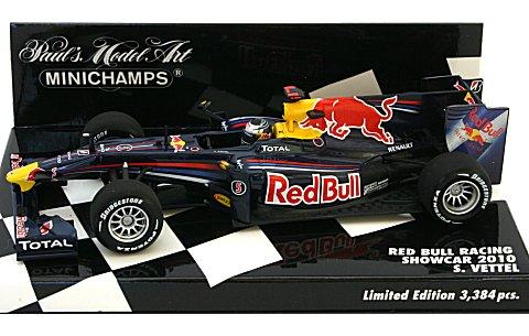 レッドブル レーシング S・ベッテル ショーカー 2010 (1/43 ミニチャンプス400100075)