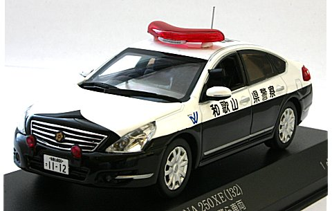 ニッサン ティアナ 250XE 2009 和歌山県警察所轄署警ら車両(東1) (1/43 レイズH7430904)