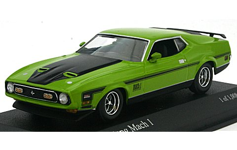フォード マスタング マッハ I 1971 グリーン (1/43 ミニチャンプス400087121)