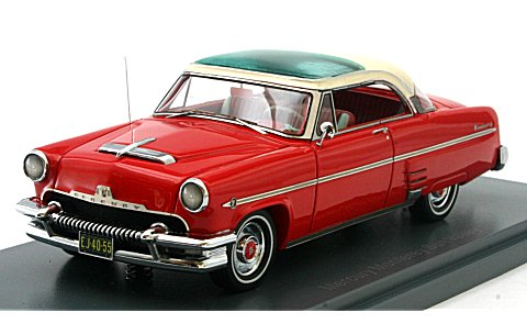 マーキュリー モンテレー クーペ ハードトップ 1954 レッド/ホワイト (1/43 ネオNEO44055)