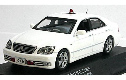 トヨタ クラウン 3.0 (GRS180) 2007 大阪府警察交通機動隊覆面 ホワイト (1/43 レイズH7430706)