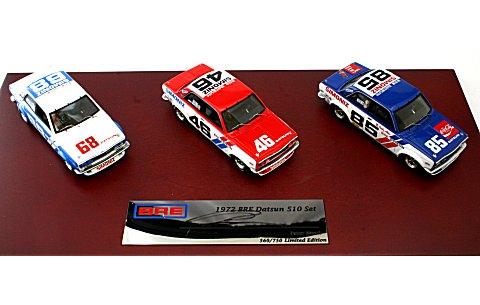 1971 ダットサン510 BREチーム3台セット PeterBrockサイン付 (1/43 TSM10SS2)