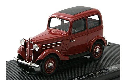 ダットサン 17型 セダン 1938 ダークレッド (1/43 エブロ44347)