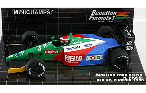ベネトン フォード B189B N・ピケ アメリカGP 1990 フェニックス (1/43 ミニチャンプス400900120)