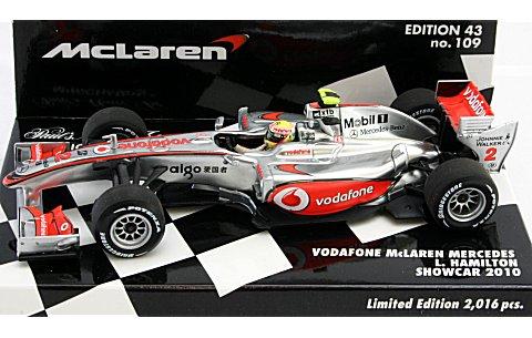 ボーダフォン マクラーレン メルセデスL・ハミルトン ショーカー 2010 (1/43 ミニチャンプス530104372)