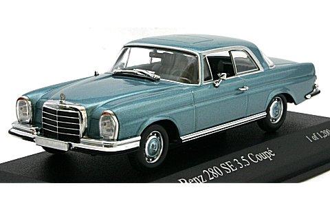 メルセデスベンツ 280 SE 3.5 クーペ (W111) 1970 ブルーM (1/43 ミニチャンプス400038121)