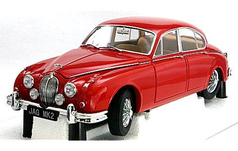 ジャガー Mk2 3.8 1962 右ハンドル カルメンレッド (1/18 モデルアイコンズ2010001)
