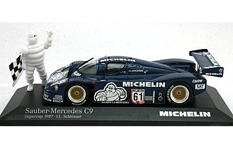 ザウバー メルセデス C9 Supercup 1987 J・L・Schlesser 「MICHELIN」 スタンディングフィギュア付 (1/43 ミニチャンプス43387106A)