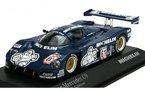 ザウバー メルセデス C9 Supercup 1987 J・L・Schlesser 「MICHELIN」 ピンバッチセット(フィギュア無) (1/43 ミニチャンプス490040)
