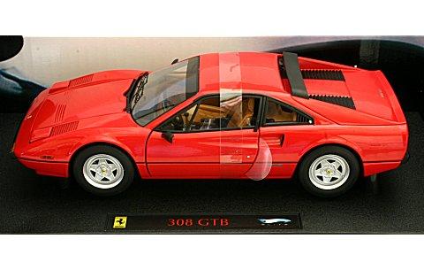 フェラーリ 308 GTB レッド/インテリア:タン (エリートシリーズ) (1/18 マテルMT6923T)