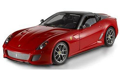 フェラーリ 599GTO 2010 レッド/ルーフ:グレーシルバー (エリートシリーズ) (1/18 マテルMT6925T)