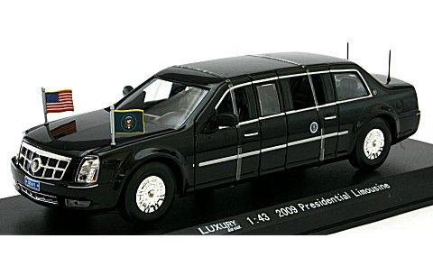 キャデラック プレジデンシャル リムジン 2009 大統領専用車 (1/43 ラグジュアリーダイキャスト LDPL600BK)