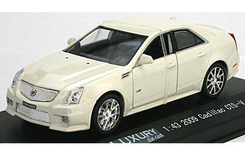 キャデラック CTS-V 2009 ホワイトダイアモンド (1/43 ラグジュアリーダイキャストLDCT500WH)