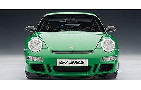ポルシェ 911 (997) GT3 RS グリーン/ブラックストライプ (1/12 オートアート12118)
