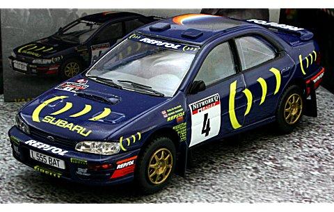 スバル インプレッサ 2000cc ターボ 1995 WRC No4 (1/43 ヴァンガーズVA12100)