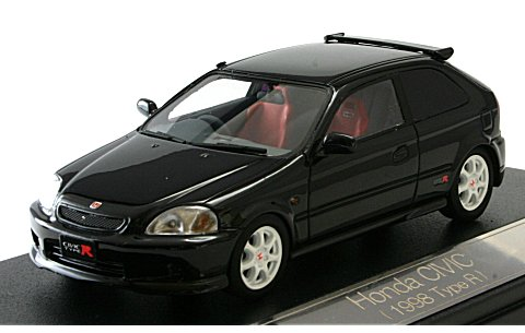 ホンダ シビック TypeR 1999 スターライトブラックパール (1/43 ハイストーリーHS037BK)