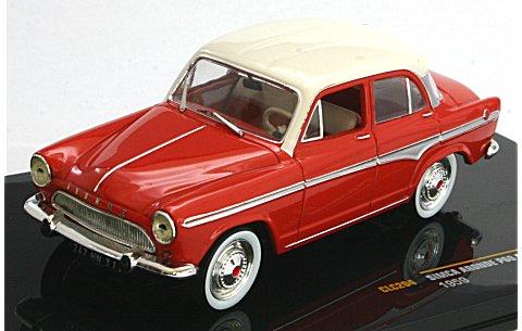 シムカ アロンド P60 モンレリー 1959 レッド/ホワイト (1/43 イクソCLC204)