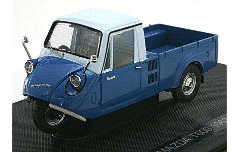マツダ T600 1962 ブルー/ホワイト (1/43 エブロ44006)