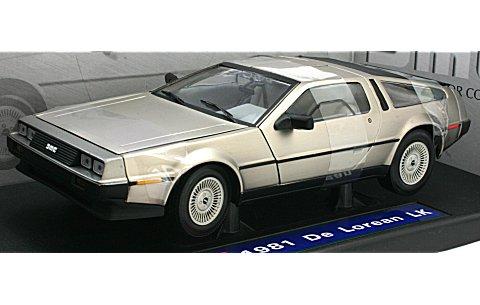 デロリアン DMC 12 1981 ステンレスフィニッシュ (1/18 サンスター2701)