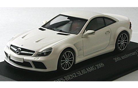 メルセデスベンツ SL65 AMG 2009 マットホワイト 京商/ミニチャンプス 20th ANNIVERSARY (1/43 ミニチャンプス403038225)